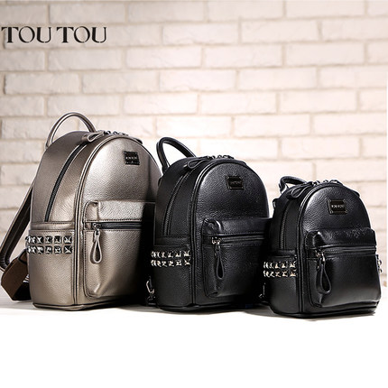A1601 TOUTOU brand designer Mini rivet backpack pu leather  backpack female Small bags famale college schoolbag sac de marque<br>