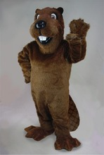 Forest Animal Mascot Barney Beaver Mascot Costume Adult Size Cartoon Character Carnival Party Outfit Suit Fancy Dress SW852(China)