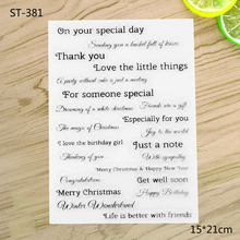 Record life Transparent Clear Stamp For DIY Scrapbooking Decorative card making craft Fun Decoration Supplies(China)
