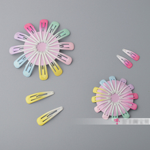 2 pieces=1 pair Graduate Color Hair Clip Snaps Accessories for Girls Bling Sparking Tiny Hairgrips