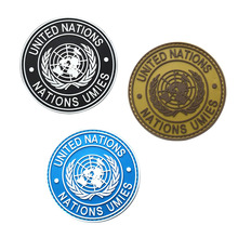 "NEW Fashion 3.15"" Badge Of International U.N/United Nations Genuine Armband Shoulder Military Kit And Apparel Badge(China)"
