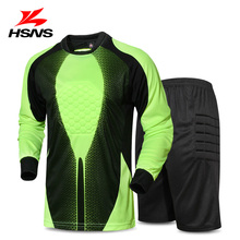 2017 New Soccer Jersey Goalkeeper Clothing Uniform Mesh Breathable Adult Long Sleeved Shorts Football Training Suit