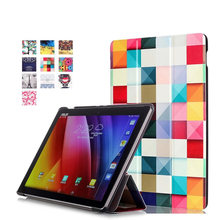 HOT Pu Leather Tablet Smart cover For Asus ZenPad 3S 10 Z500M 9.7 inch MediaPad 3 Folding Stand Protective Cover+stylus+film