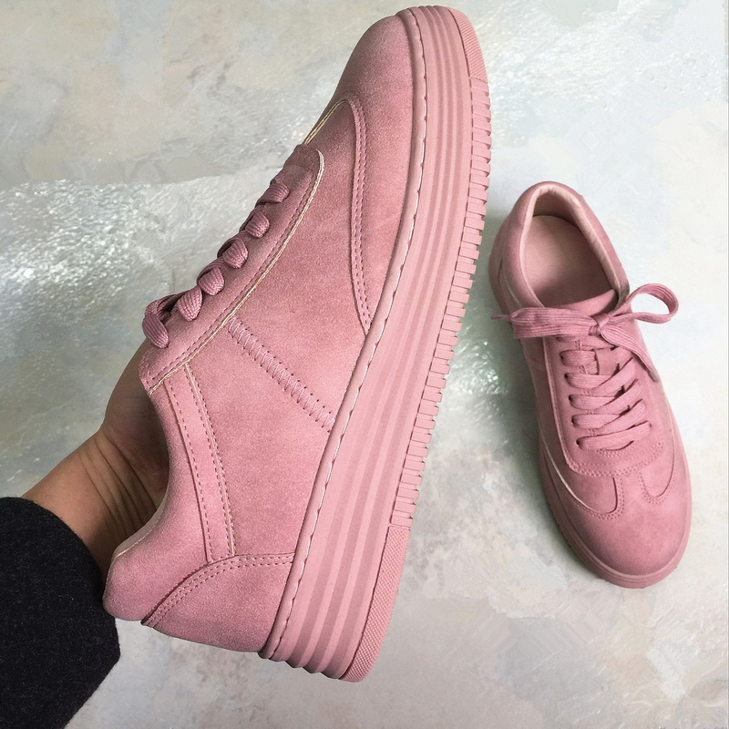 Pink Matte Women Sneakers Comfortable Sport Shoes