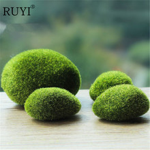 A Set Of Mini Artificial Moss Stones Grass Bryophytes Plant Pot Bonsai Home Garden Decoration DIY Potted(China)