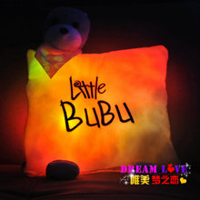 Christmas music light-emitting pillow bubu bear plush toy doll birthday gift