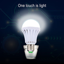 Led Bulb E27 5w 7w 9w 12w AC 110v 220v SMD 2835 Rechargeable Intelligent Power Outages Emergency Saving Lamp Furniture For home(China)