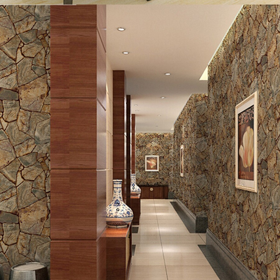 beibehang Vinyl Imitation Stone Brick Grain papel de parede 3d Wallpaper Wall Decor For Living Room Bathroom Wallcovering<br>