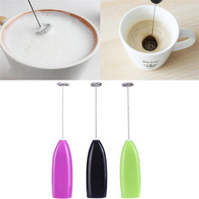 Drinks Milk Frother Foamer Electric Whisk Mixer Battery Powered Mini Handle Strirrer Egg Beater Kitchen Cooking Tools