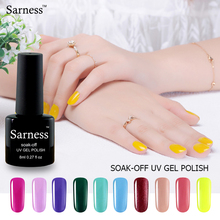 Sarness Brand 8ml Soak Off Gel Nail Polish Lucky Fashion Pure Color UV LED Lamp Nail Gel Semi Permanent Cheap Gel Polish Varnish
