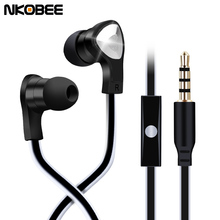 NKOBEE Stereo Earpods Earphone Noise Canceling Headset With Microphone For iPhone 7 Xiaomi For Samsung S8 Earphones Accessories