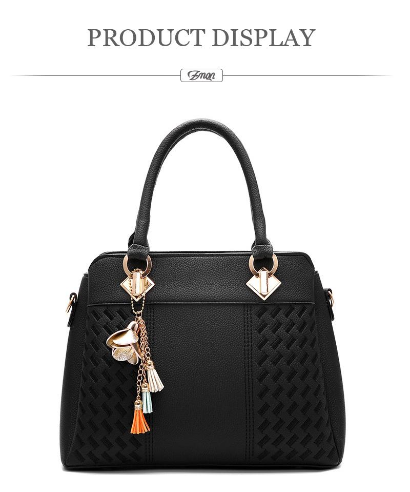 ZMQN Women Handbags For 2019 luxury Handbags Women Bags Designer Women  Leather Handbag Tassel Shoulder bag women bolsa Gray A711 aa8d5b4030061