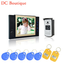 (1 set) Latest Video intercom Smart Home system 8 Inch panel HD night version Video door phone waterproof camera RFID card open