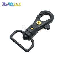 "100pcs/pack 5/8""(16mm)Plastic Rotating Swivel Snap Hook Black For Weave Paracord Lanyard Buckle Webbing Bag Accessory"