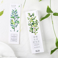 Green Plant Series Office School Stationery Paper Bookmark Clear Concise 30 Sheets/box Creative Beautiful Bookmarks