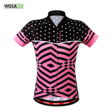 WOSAWE 2018 Summer Cycling Jerseys Mtb Road Bike Bicycle Sports Wear Pink Cycling Clothings for Womens Ladies(China)
