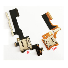 New SIM+SD Card Slot Tray Holder Reader Flex Cable Replacement part For HTC One M9(China)