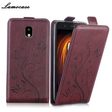 "Lamocase Case For Samsung Galaxy J5 2017 Leather Flip Cover For Samsung Galaxy J5 2017 SM-J530G SM-J530F 5.2"" Mobile Phone Bags(China)"