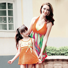 Mother and Daughter Clothes Swimsuit Family Swimwear Bikini Set Mama Mom and Daughter Swimwear Dress Family Swimming Clothing(China)