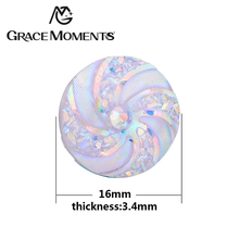 Grace Moments 100pcs 16mm Twinkling Helix Spacers Women Jewelry Findings 12 Colors Glitter Spiral Pads Making Fashion Jewellery