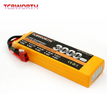 TCBWORTH 14.8V 3000mAh 40C-80C 4SRC Helicopter LiPo battery For RC Airplane Quadrotor Drone Truck AKKU Li-ion battery(China)