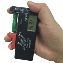 1pcs High Quality BT-168D BT168D Universal Battery Tester For 9V 1.5V And Button Cell AAA AA C D