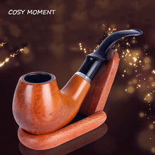 COSY MOMENT Resin Tobacco Smoking Pipe With Wood Grain Portable Durable Classical Tobacco Cigarettes Cigar Filter Pipes YJ272(China)