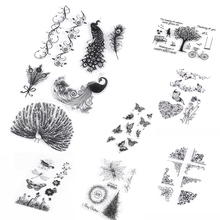 1 Pc New Fashion DIY Silicone Butterfly Rubber Stamp Alphabet Tree Scrapbooking Transparent Stamp Crafts Decorating New
