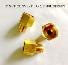 "EARTH STAR Pipe assembly Brass adapter 1/2""NPT convert to 5/8""UNEF thread connector promotion price"