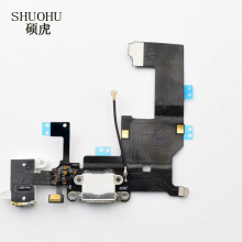 shuohu brand 1pcs For iPhone 5 5c Charger Charging port Dock USB Connector Data Flex Cable Headphone Jack Flex Ribbon
