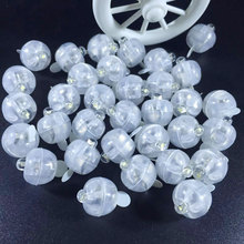 50pcs/lot warm White Round Led Balloon Lights Multicolor Mini RGB Flash Ball Lamps for Wedding Party Decoration 6 Colors(China)