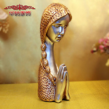 2016 Direct Selling Sale Home Decoration Accessories Modern Decor Furnishing Wedding Gift Resin Crafts Belief Figure(China)