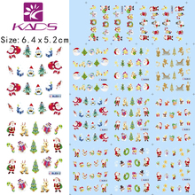 HOTSALE 11sheet/SET Christmas nail sticker DECAL BLE906-916 Serie water transfer nail art stickers for nail stickers decals