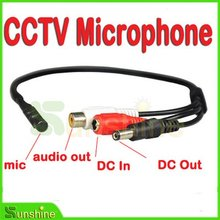 Wholesale Factory Prce 5pcs/lot Mini  CCTV Wide Range Microphone for Security Camera Audio Surveillance DVR Free Shipping