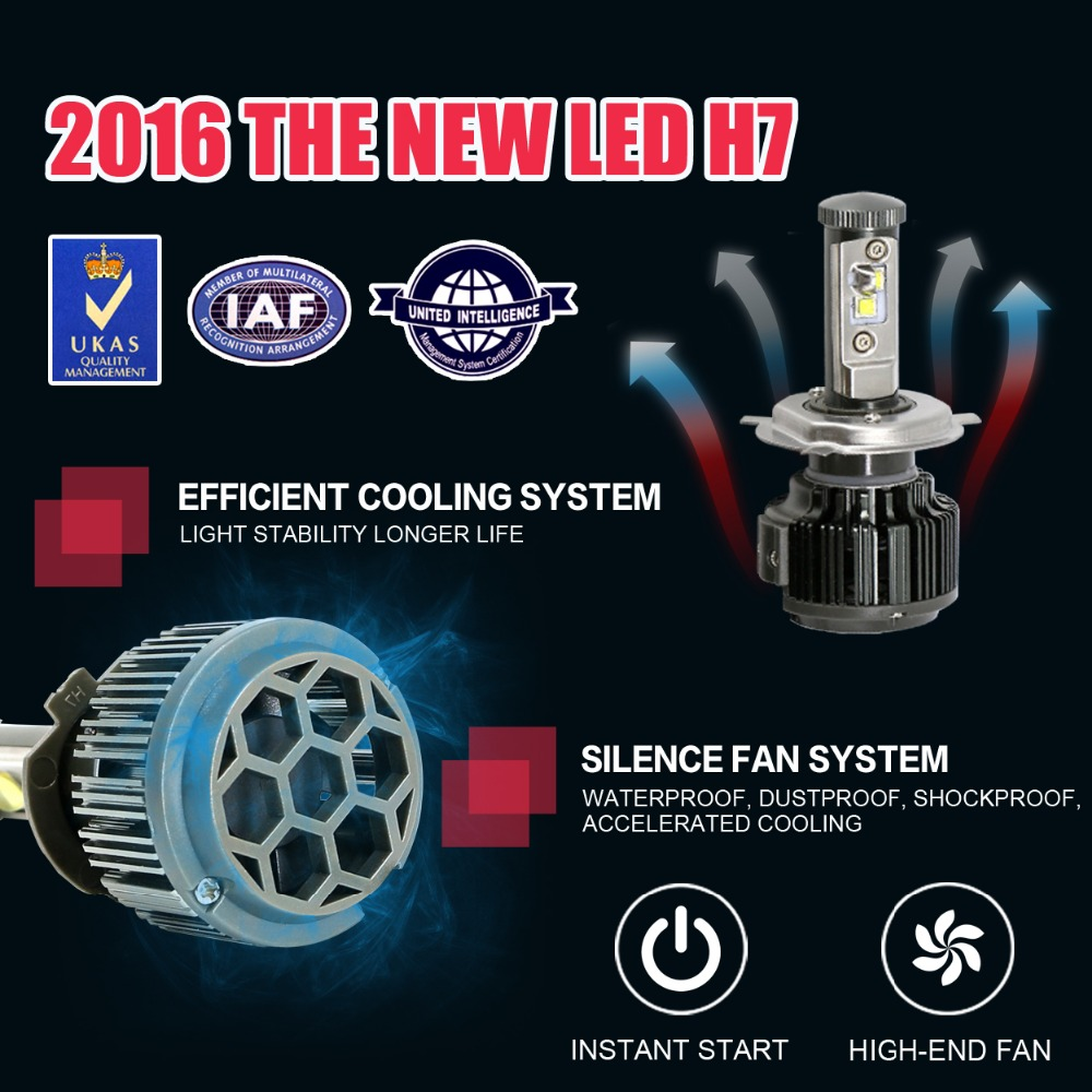 2017 THE New H7 LED  High Power 30W  3000K 4300K 6000K 8000K Strong Bright Car Headlight Fog Light Conversion kit With<br><br>Aliexpress