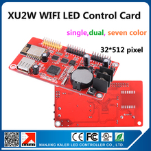 kaler kaler XU2W wifi control card for programmable moving message P10 led sign indoor semi outdoor outdoor led screens