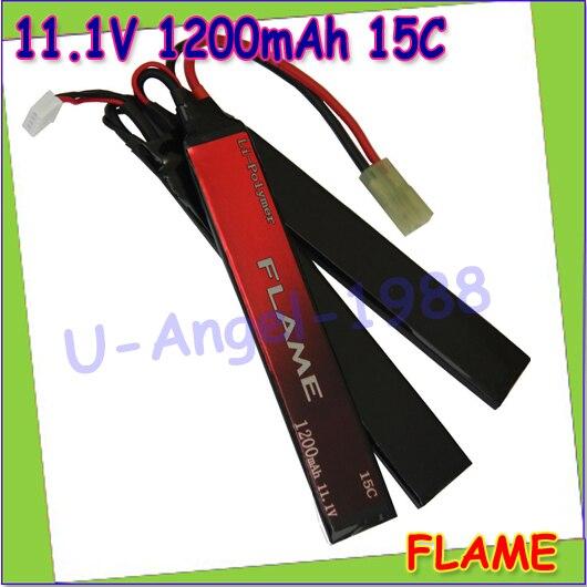 wholesale 1pcs 100% Orginal Flame 11.1V 1200mah 15C LiPo Li-Po Lithium RC Battery Pack for AEG Radio Car M3R12C Drop shipping<br><br>Aliexpress