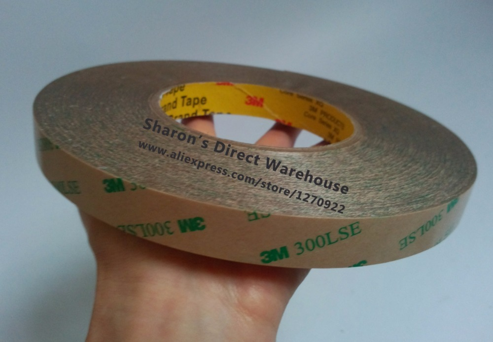 16mm width, 55M Long 3M Heavy Duty High Bond Adhesive Tape for Daily Use, Photo Frame, Auto Panel, Phone Screen LED 9495LE<br>