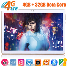 2017 Newest 10 inch 3G 4G FDD LTE tablet Octa core 1920*1200 IPS HD 8.0MP 4GB RAM 64GB ROM Android 6.0 GPS tablet 10 10.1 + Gift