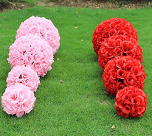 40cm 9 Colors artificial rose flower ball wedding market decorative flowers event & party supplies A3055(China)