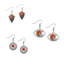 sports Alloys jewelry fashon Drop Earrings Cleveland Browns logo earrings basketball fan Team drip earrings(China)