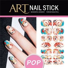 Tiger Design Nail Art Stickers Patch Foils Water Transfer Nails Sticker Manicure Wraps Decoration Animal Style