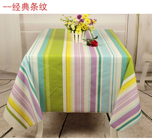 Thickening waterproof disposable fabric table cloth fashion rustic dining table tablecloth(China)