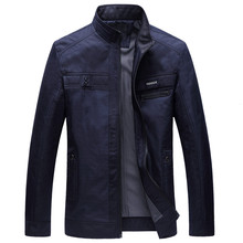 Jacket Men Business Thin 2017New Fashiong Casaco Masculino Splice Durk blue Jaqueta Masculina Male Spring Jackets Hot Selling(China)