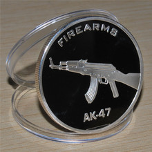 AK-47 Gun Firearms JFK Kennedy Half Dollar US Colorized Coin Russian military challenge COINS 5pcs/lot free shipping