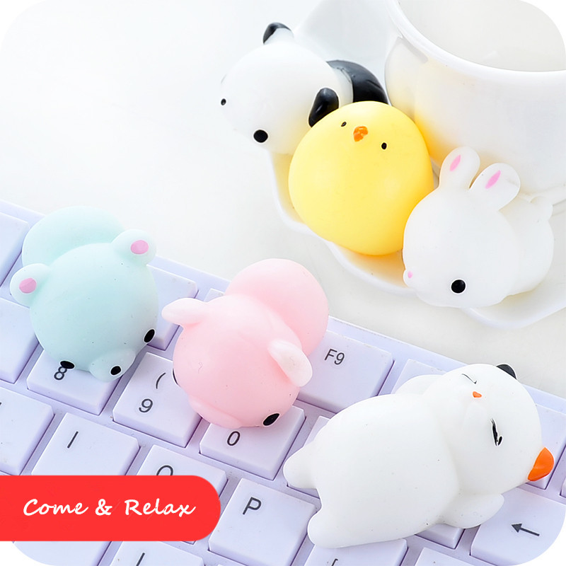 New 16 Pcs Mini Cute Mochi Animals 5