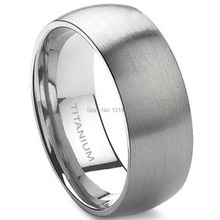 8MM Men Size 7-15 Classic Simple Plain Brushed Pure Solid Titanium Wedding Engagement Band Ring Husband Father's Day Gift