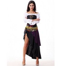 2017 New Sexy Women Pirate Costume Halloween high quality Fancy Witch queen Cosplay Dress new Year Carnival Party Adult Costumes