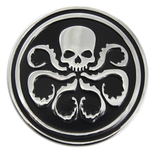 1x Alloy Black Hydra Logo 3D Emblem Badge Decal Car Styling Car Body Sticker For Car Truck Grid Cover Front Tail #6831
