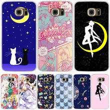 Sailor Moon sailormoon girl crystal cell phone case cover for Samsung Galaxy S7 edge PLUS S8 S6 S5 S4 S3 MINI